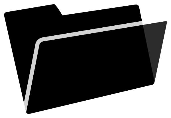 600x414 Black And White Folder Clip Art