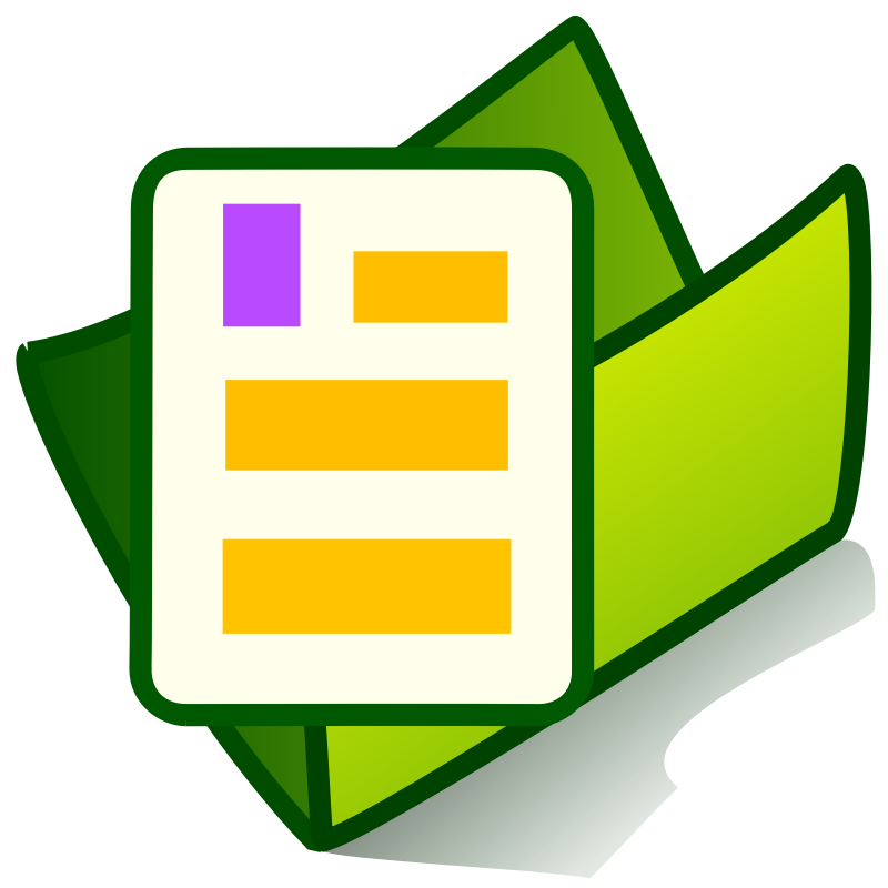 800x800 Folder With File Icon Clipart