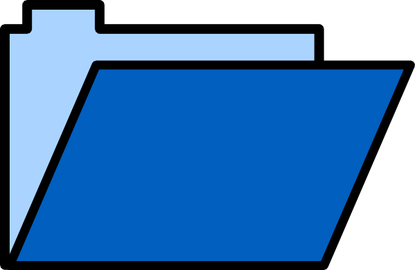 600x390 Blue Folder Lite Clip Art