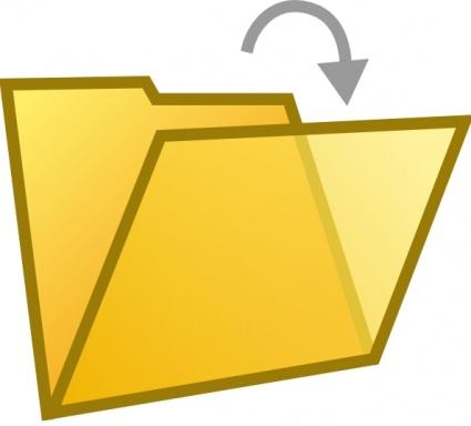 425x384 Open Folder Document Clip Art Clipart Panda