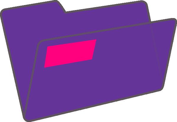 600x412 Purple Folder Clip Art