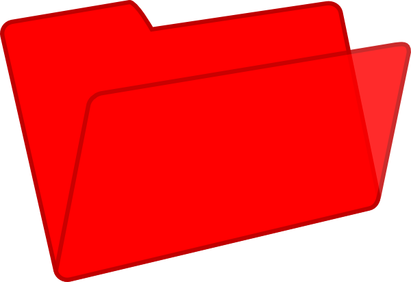 600x412 Red Folder Clip Art