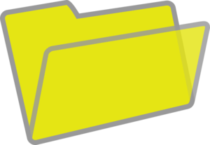 300x207 Yellow And Grey Folder Clip Art