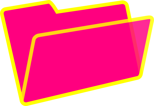 600x414 Yellow And Pink Folder Clip Art