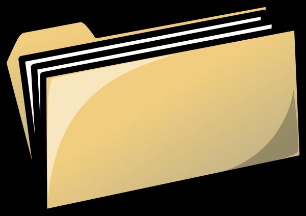 600x424 Yellow Folder Clip Art