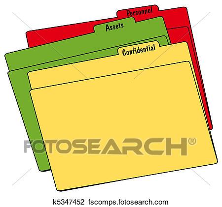 450x421 Clip Art Of File Folders K5347452