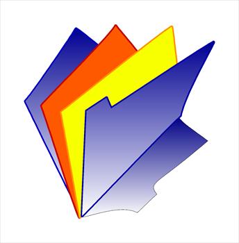 344x350 Folders Clip Art