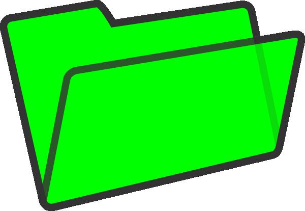 600x414 Green File Folder Clipart