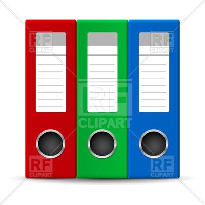 400x400 Office Folders Royalty Free Vector Clip Art Image