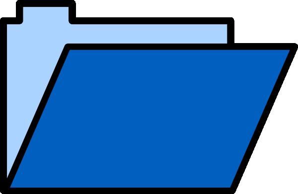 600x392 Blue Folder Clip Art