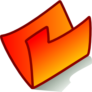 297x298 Orange Folder Clip Art
