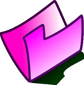 297x298 Pink Folder Clip Art
