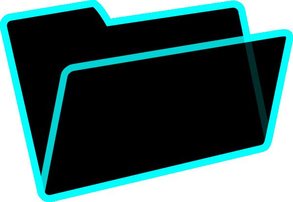 600x414 Black Folder Clipart