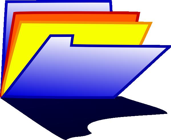 600x493 Blue Folder Icon Clip Art Free Vector 4vector