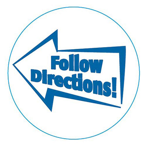 Following Directions Clipart