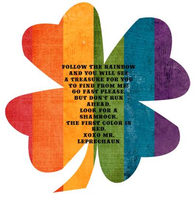 400x411 Leprechaun Treasure Hunt Follow The Colors Of The Rainbow + Free