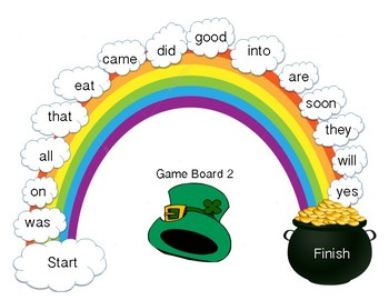 350x270 Patrick's Day Sight Word Game Follow The Rainbow (Dolch Word Lists)
