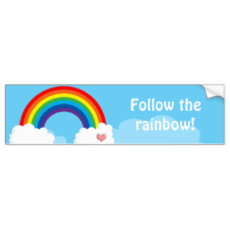 324x324 Rainbow Bumper Stickers, Rainbow Car Decal Designs