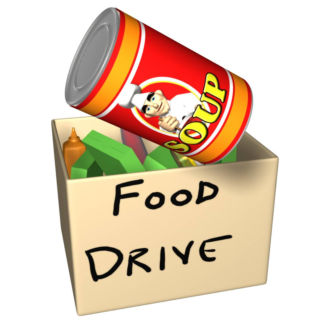 1144x1144 Canned Food Drive Clip Art