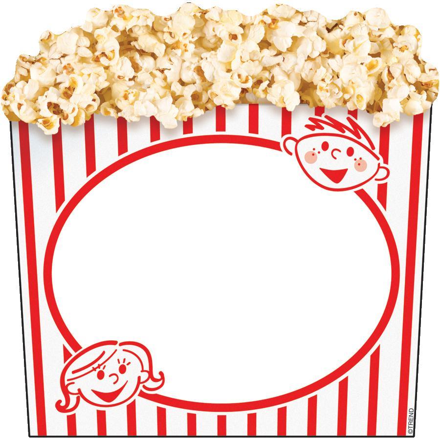 900x900 Free Popcorn Border Writing Paper Image