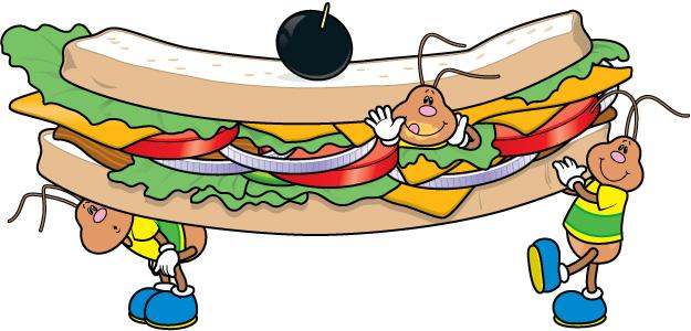 625x300 Sandwich Clipart Border
