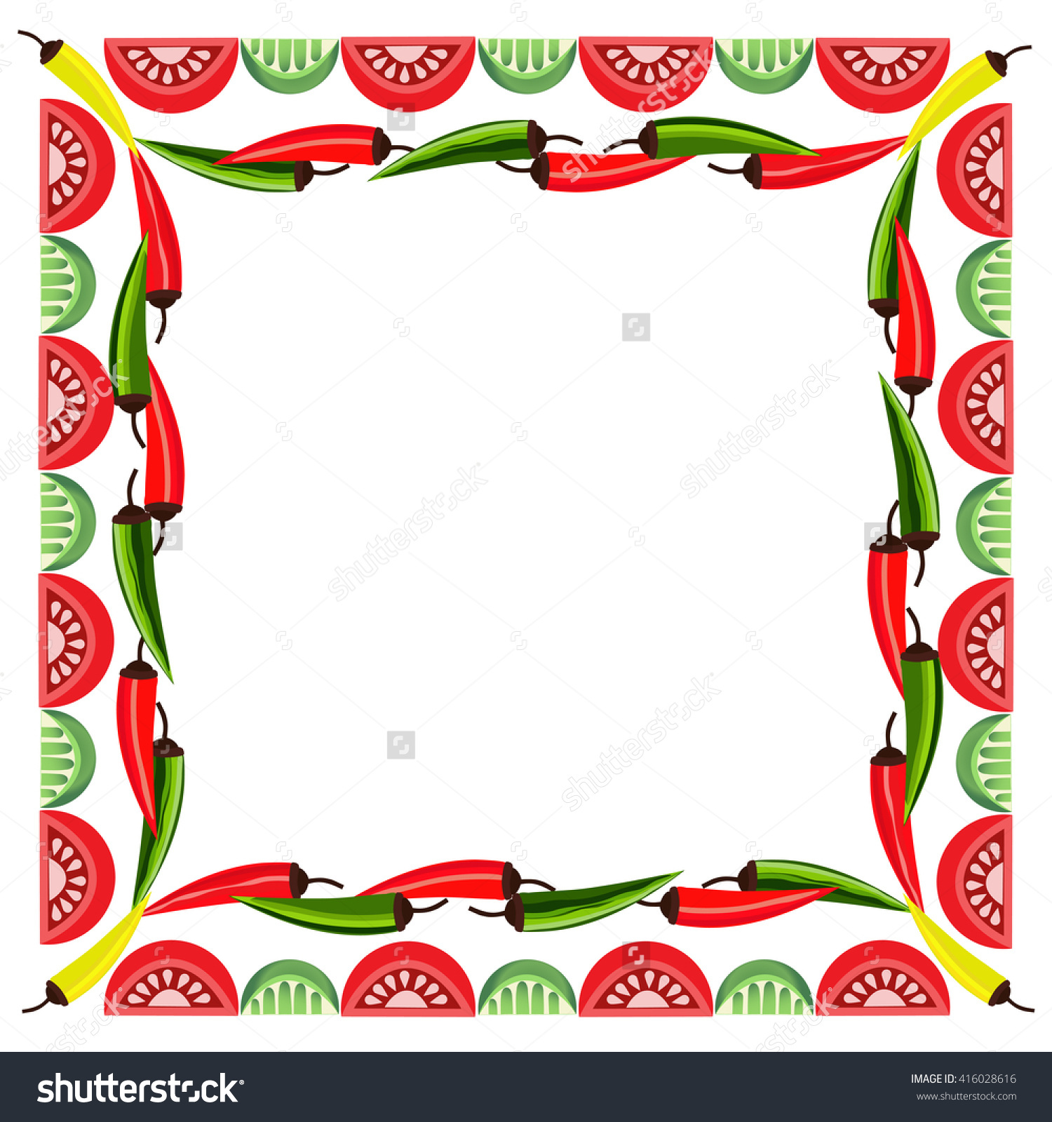 1500x1600 Mexican Food Clipart Borders Collection