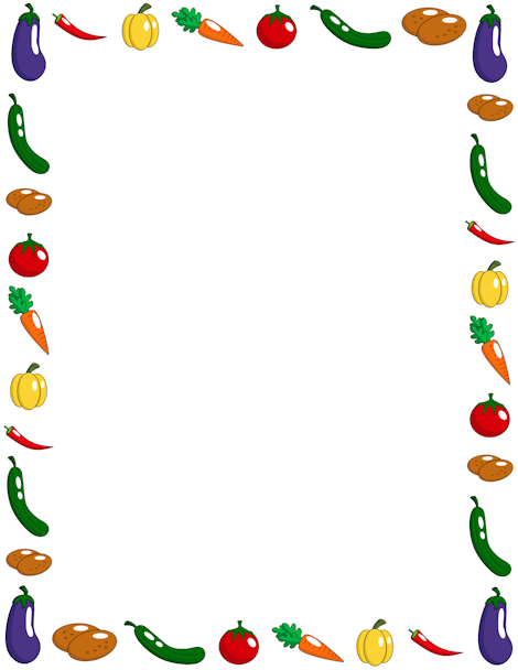470x608 Sample Food Clipart Borders