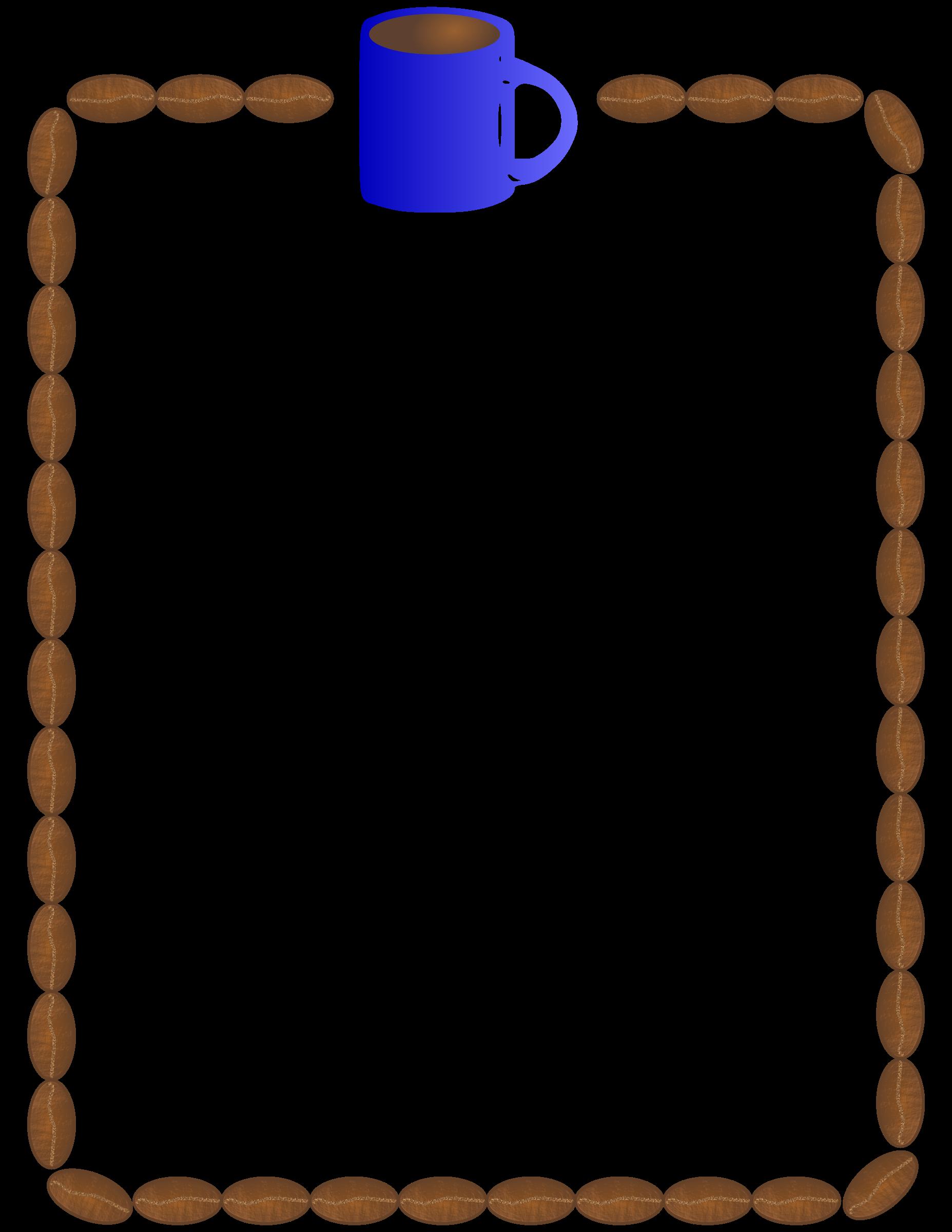 1855x2400 Coffee Border Clipart Free