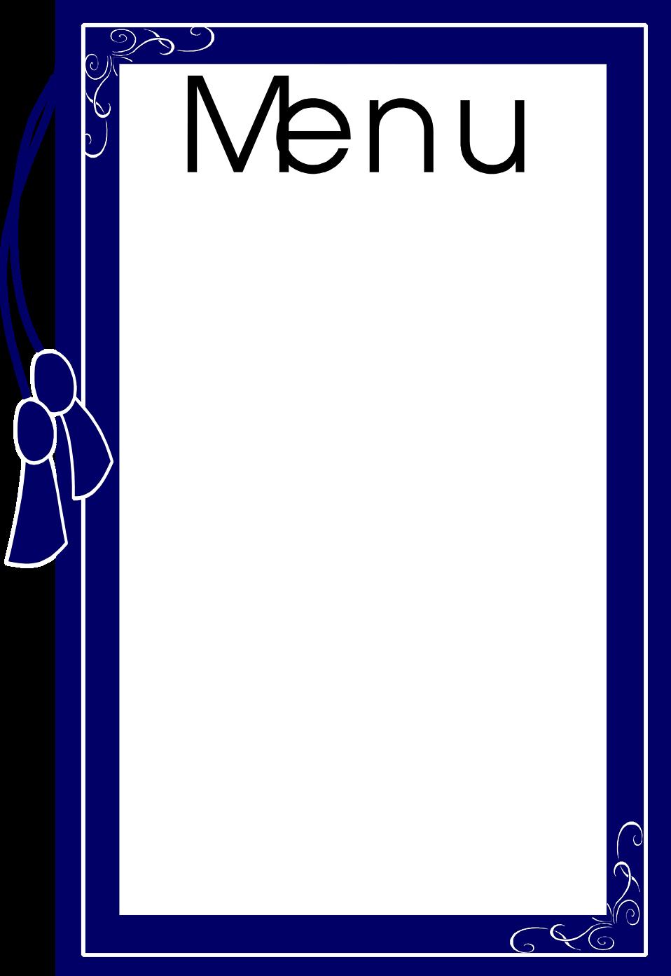 958x1393 Menu Free Stock Photo Illustration Of A Blank Food Menu