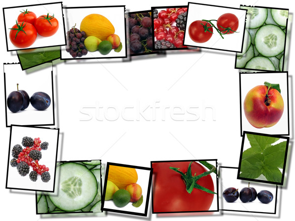 600x450 Film Frames With Fresh Healthy Food Images, Border On White B