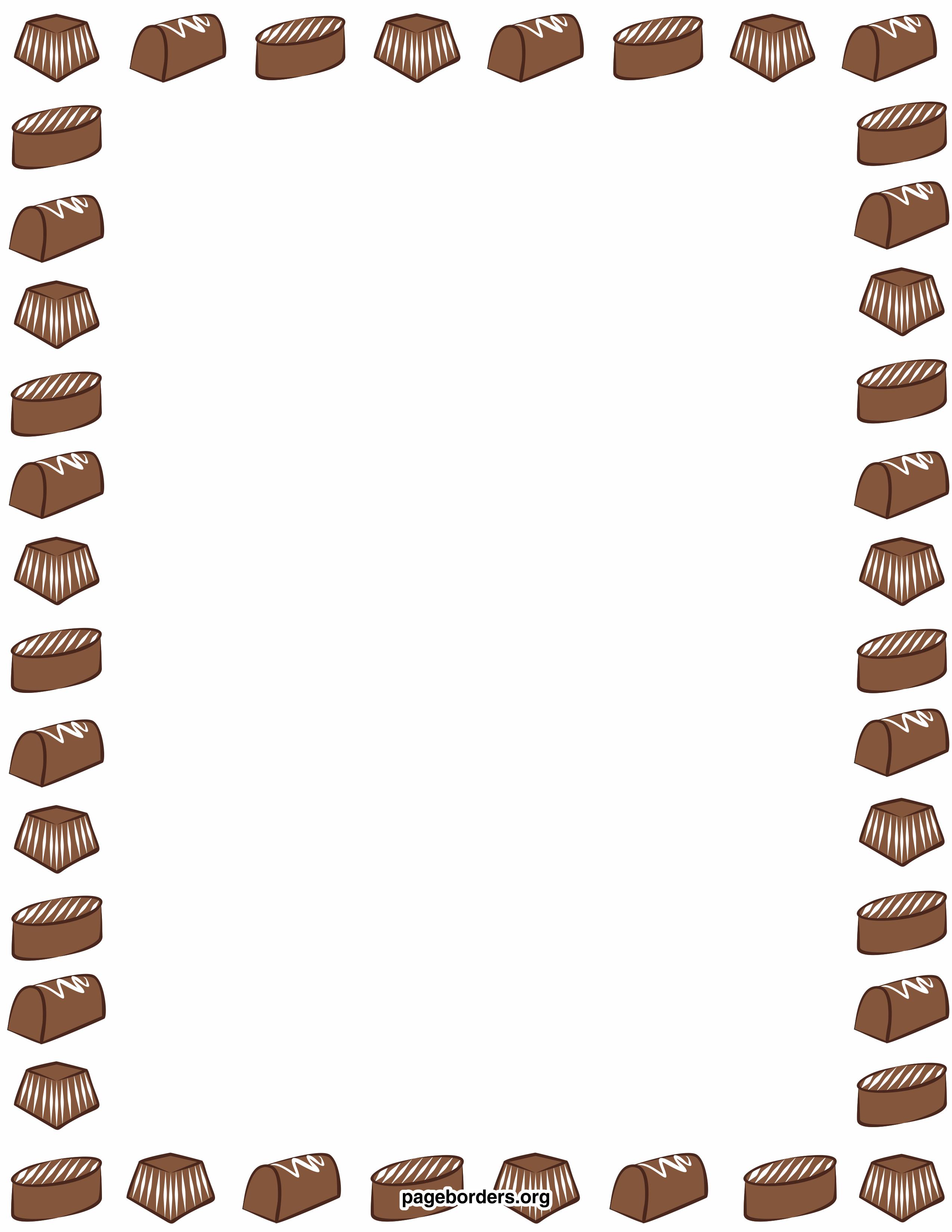 2550x3300 Chocolate Clipart Frame