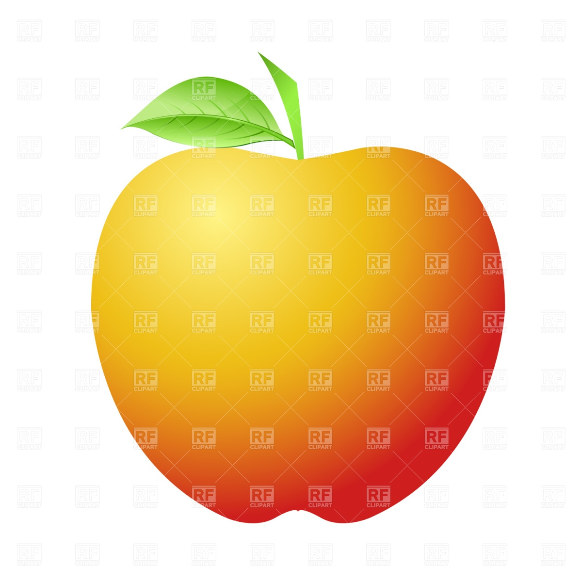 1200x1200 Ripe Apple Royalty Free Vector Clip Art Image