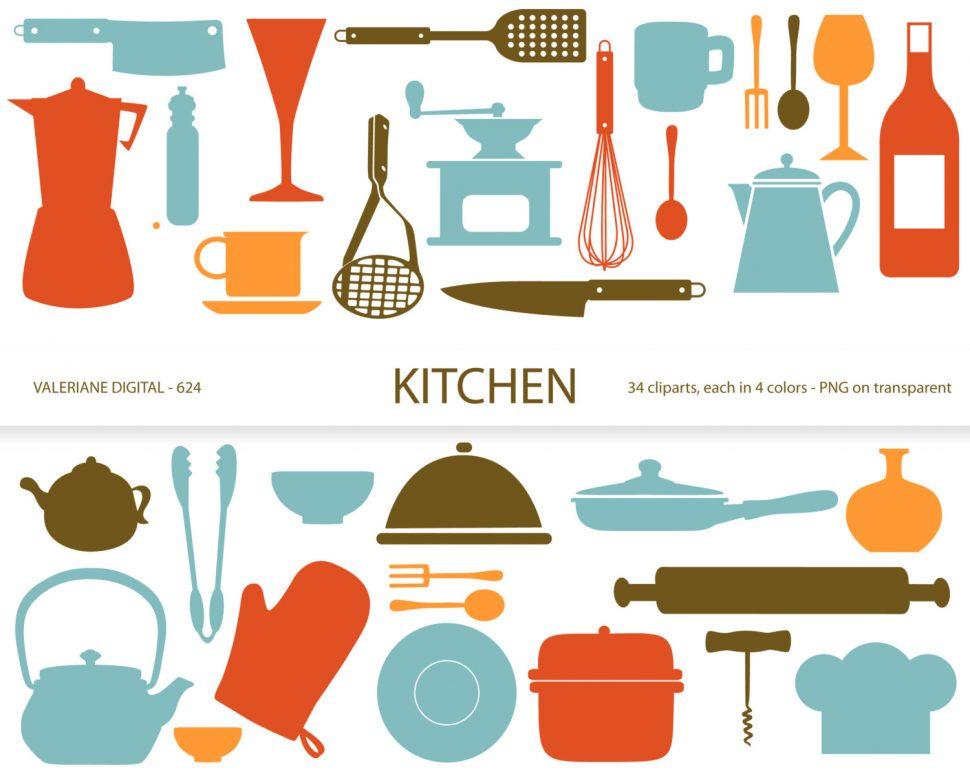 970x776 Kitchen Stunning Kitchen Utensils Border Clipart Frame Food 8