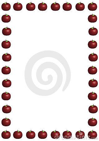 318x450 Teacher Apple Border Clipart