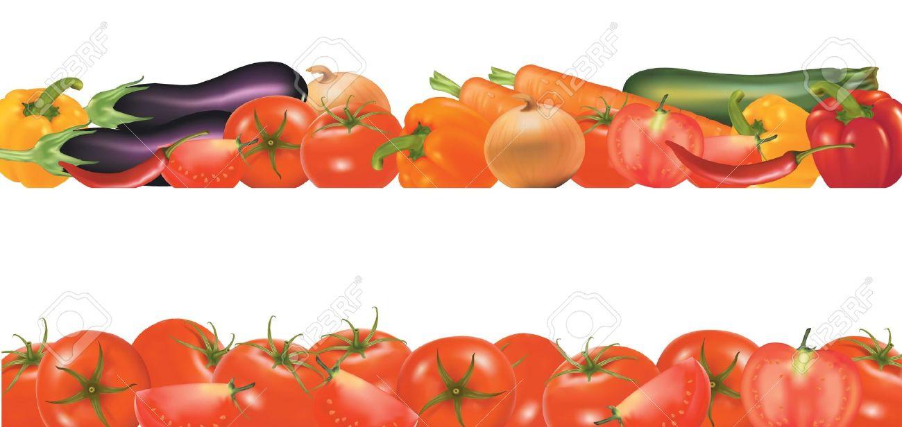 1300x616 Vegetable Borders Clip Art