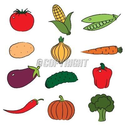 400x400 Clip Art Cartoon Vegetables Clipart