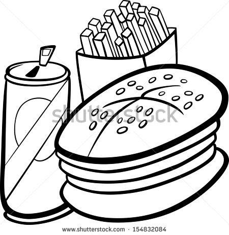 450x463 Black And White Cartoon Food Clip Art