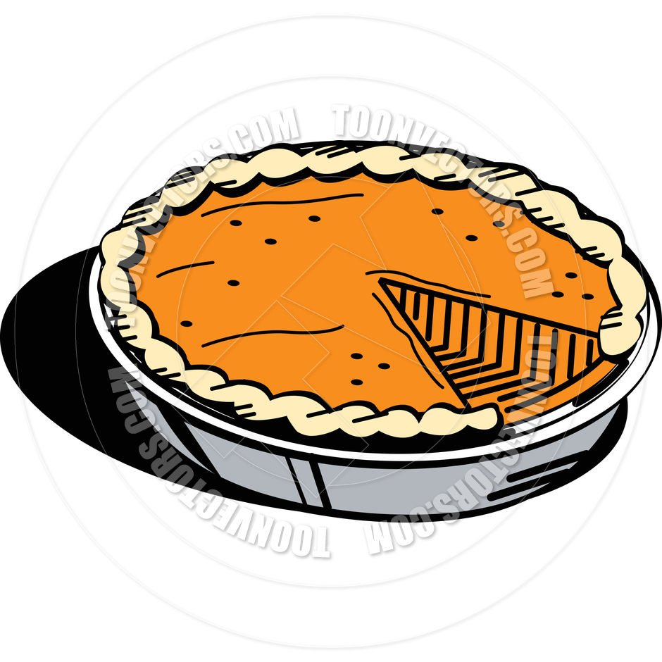 940x940 Cartoon Pumpkin Pie Vector Illustration By Clip Art Guy Toon