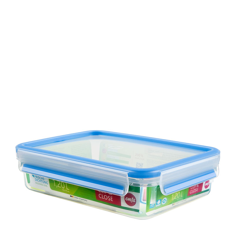 800x800 Clip Amp Close Food Storage Container, Classic Format Emsa