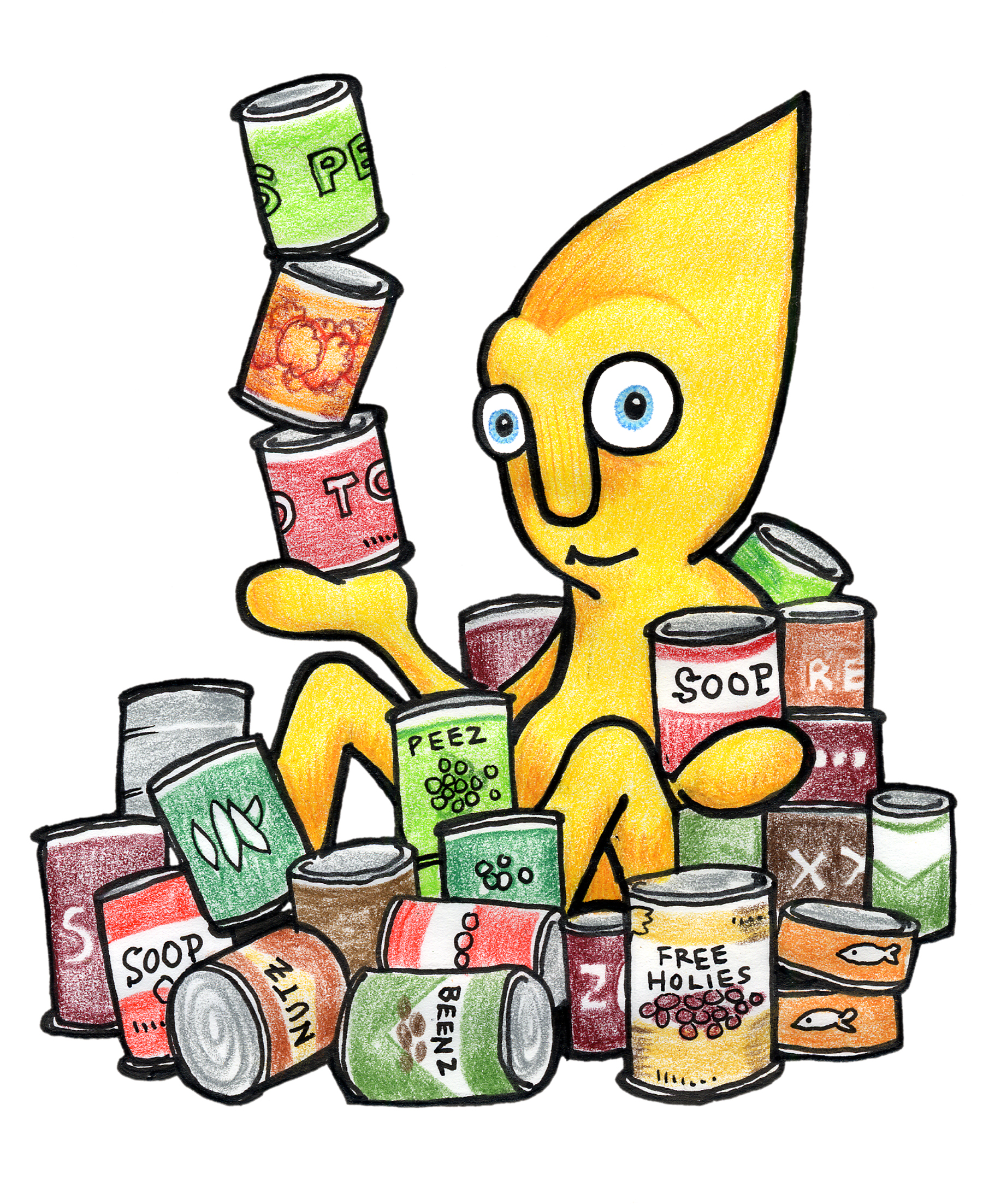 1800x2203 Canned Food Drive Clip Art