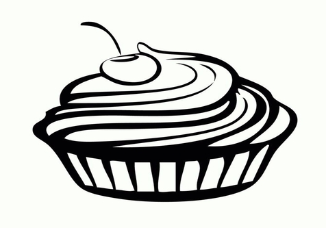 476x333 Clip Art Food Coloring Page Image Clipart Images
