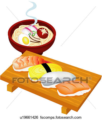 401x470 Clip Art Of Cuisine, Japan, Rice, Egg, Fish, Japanese Food, Food