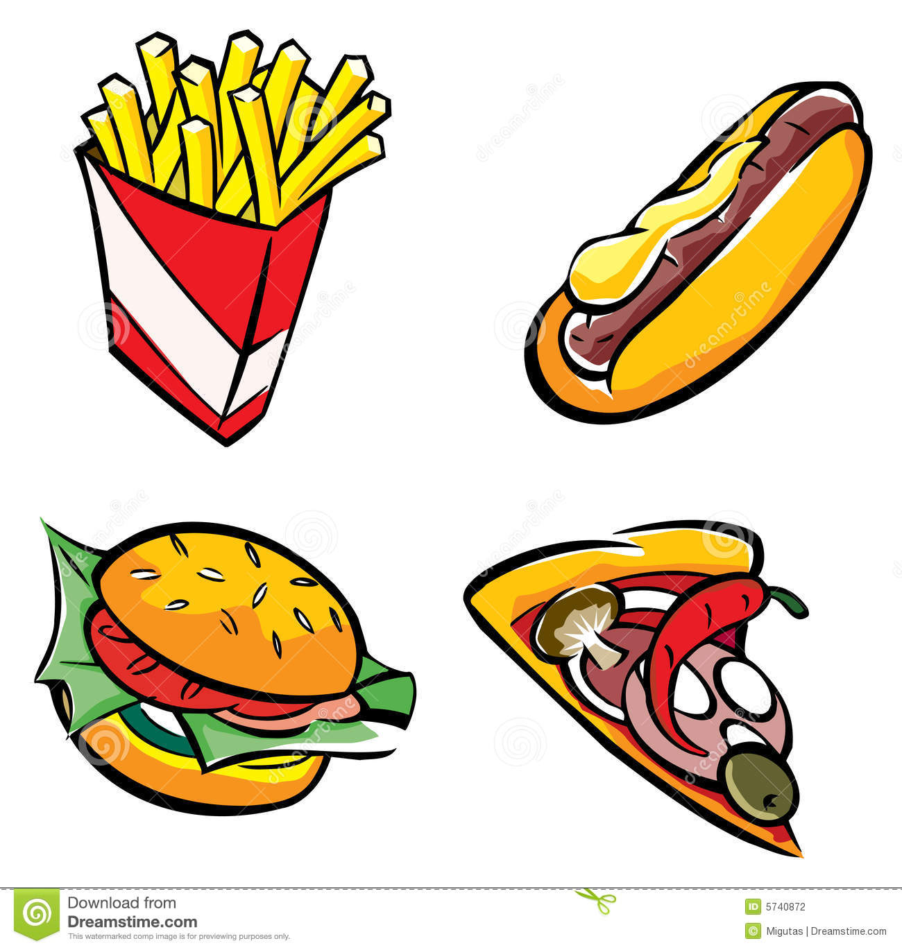 1300x1370 fast food clip art – Cliparts