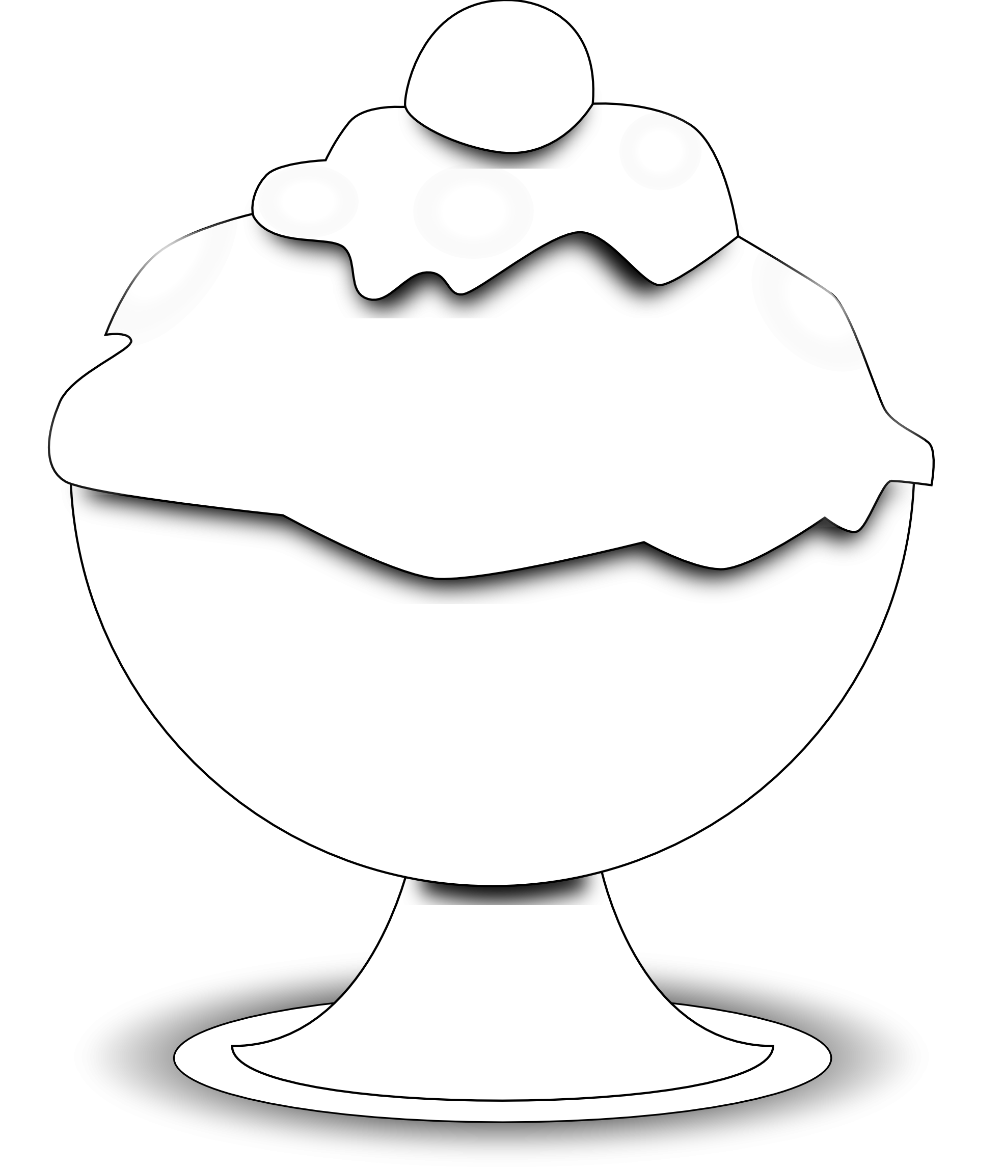 1969x2295 Food Ice Cream Black White Clipart Panda