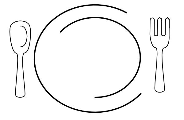 600x393 White Plate Clip Art