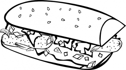 425x236 food drive clipart black and white