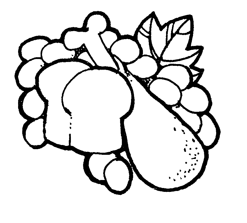 833x752 Foods Clipart Black And White