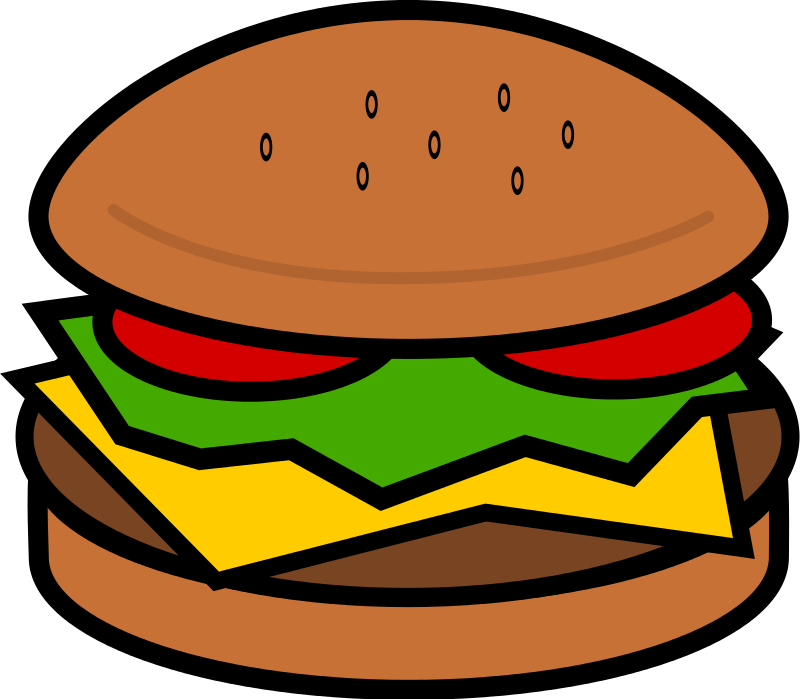 800x699 Hamburger Clipart