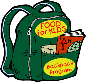300x290 Back Packs Filled With Food Clipart