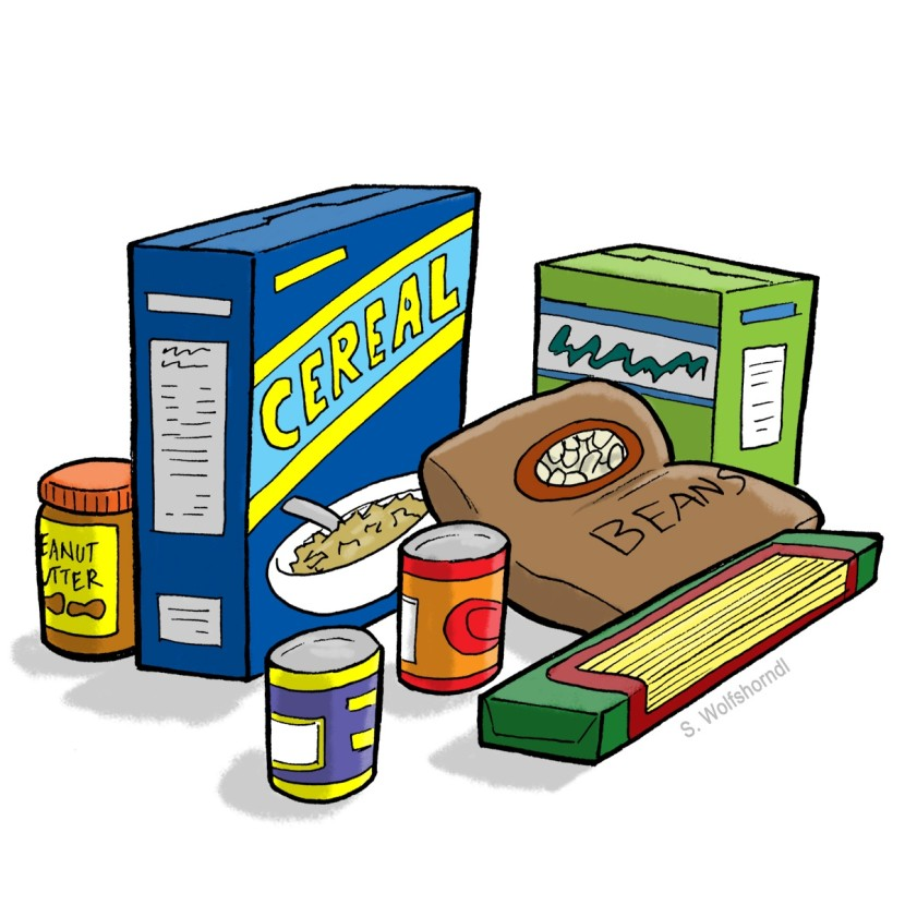 830x830 Canned Food Food Drive Clip Art